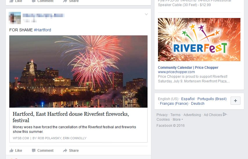 Riverfront Cancel Facebook